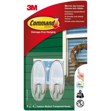 Haczyki średnie biały 2 szt. Command