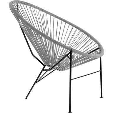 Krzesło ogrodowe ACAPULCO technorattanowe szare