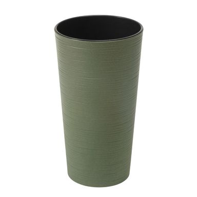 Doniczka plastikowa 19 cm zielona LILIA DŁUTO