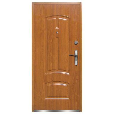 Drzwi zewnętrzne stalowe RA040 Ciemny orzech 90 Lewe OK DOORS