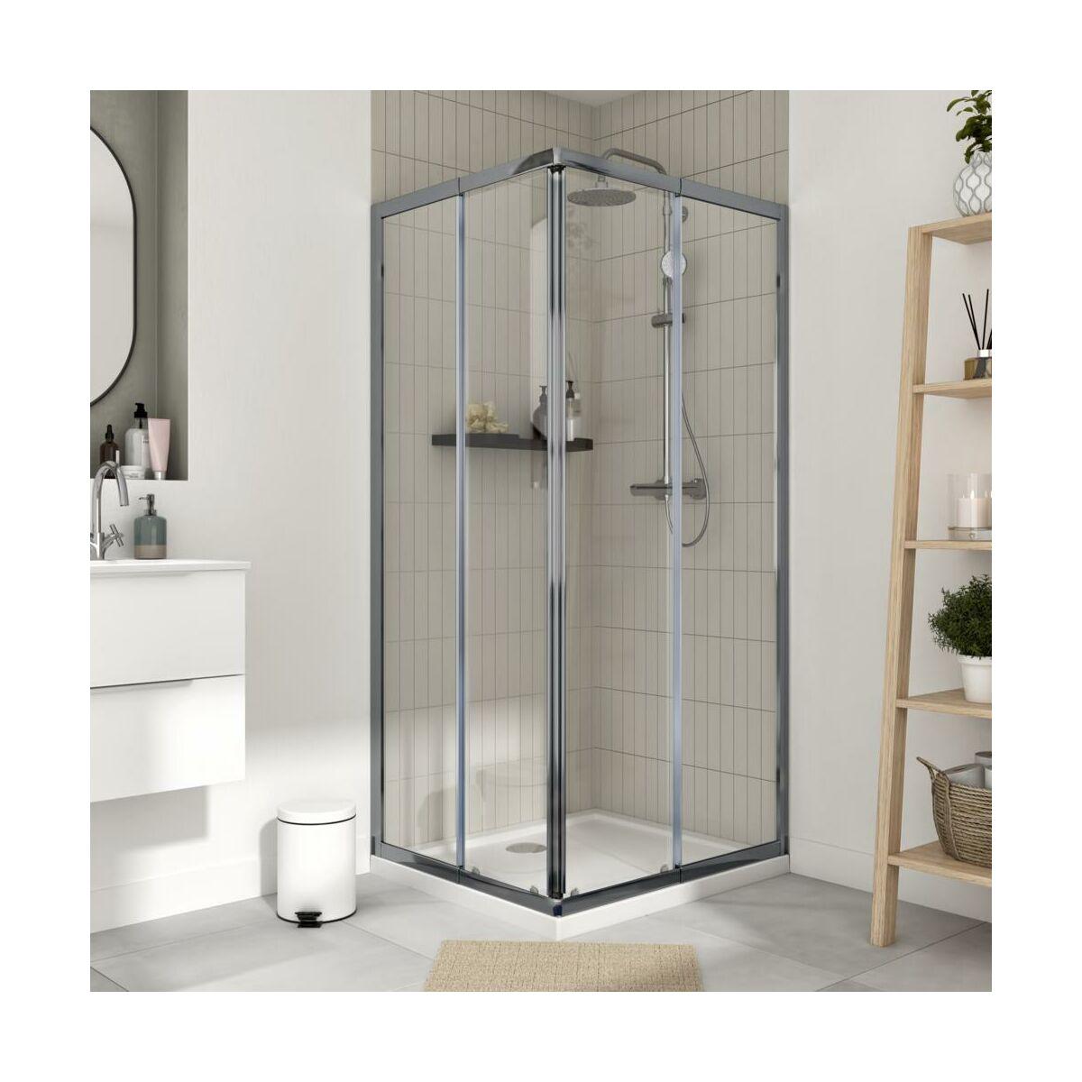 Kabina Prysznicowa 100 X 185 Cm Essential Sensea Kabiny Prysznicowe W Atrakcyjnej Cenie W Sklepach Leroy Merlin