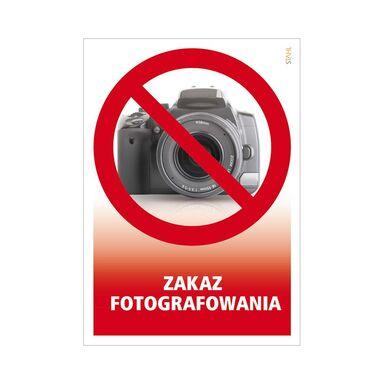 Znak informacyjny ZAKAZ FOTOGRAFOWANIA