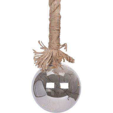 Bombka szklana na linie LED 10 cm 1 szt. szara