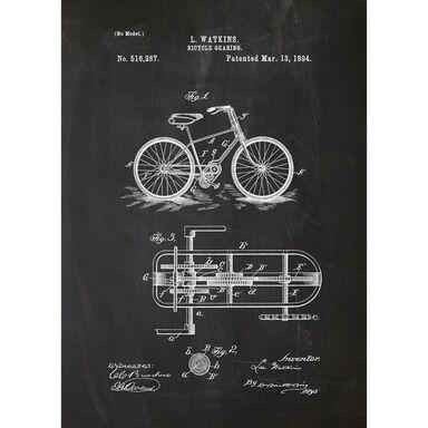 Obraz na metalu ROWERY 32 x 45 cm