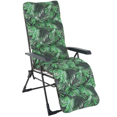 Fotel ogrodowy MALAGA PLUS z poduszką i regulowanym oparciem
