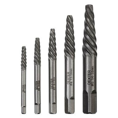 Bity do usuwania złamanych śrub i kołków 3 - 18 mm 5 szt. DEXTER