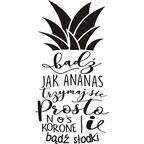 Naklejki napisy na ścianę ANANAS DUŻY