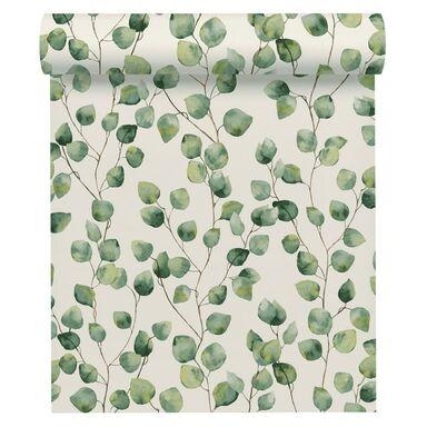 Tapeta w liście GRENERY zielona winylowa na flizelinie