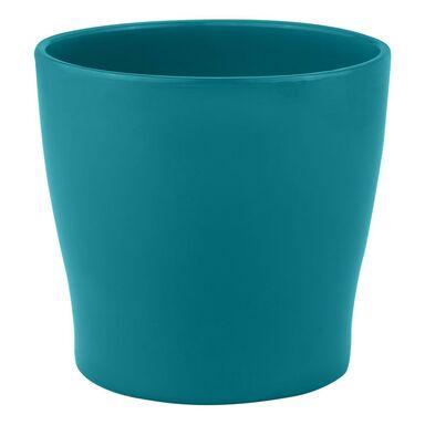 Doniczka ceramiczna 13.5 cm turkusowa TOSKANIA CERAMIK