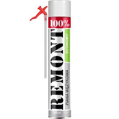 Pianka poliuretanowa wężykowa 100% REMONT 700 ml PENOSIL