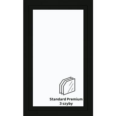 Okno PCV 3-szybowe O30 Antracyt 865 x 1435 mm