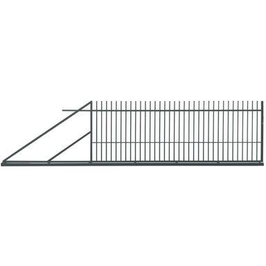 Brama przesuwna MILOS 400 x 150 cm lewa POLBRAM antracyt