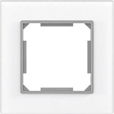 Ramka pojedyncza EDG1001GW białe-szkło LEXMAN