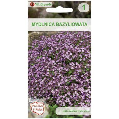 Nasiona kwiatów RÓŻOWA Mydlnica bazyliowata W. LEGUTKO