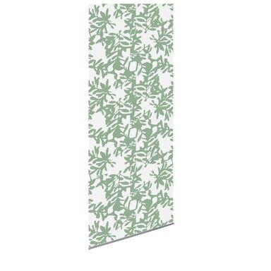 Tkanina na panel japoński KWIECIE zielona 60 x 275 cm