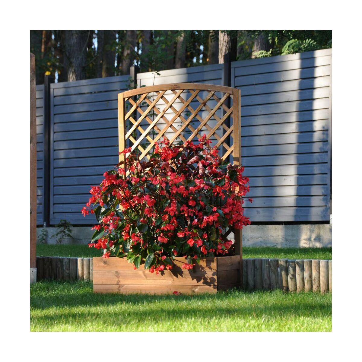 Donica Ogrodowa 40 X 90 X 141 6 Cm Drewniana Z Kratka Brazowa Nive Naterial Donice Ogrodowe W Atrakcyjnej Cenie W Sklepach Leroy Merlin