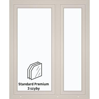 Okno PCV 3-szybowe O33 Białe 1165 x 1435 mm