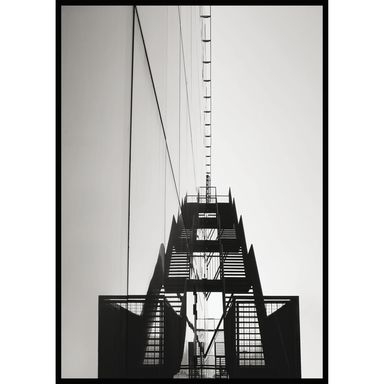 Obraz SCHODY METALOWE 70 x 100 cm
