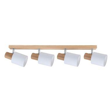 Listwa reflektorowa TREEHOUS biała z drewnem E27 SPOT-LIGHT