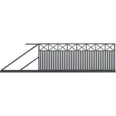 Brama przesuwna BOSTON 400 x 150 cm lewa POLBRAM