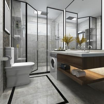 Oryginalna łazienka w nowoczesnym stylu