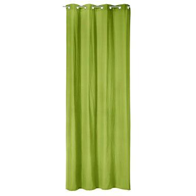 Zasłona ELEMA zielona 140 x 280 cm na przelotkach INSPIRE
