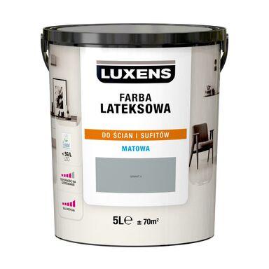 Farba wewnętrzna LATEKSOWA 5 l Granit 4 LUXENS