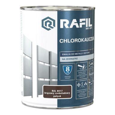 Emalia do metalu i betonu CHLOROKAUCZUK 0.9 l Brązowy czekoladowy RAL 8017 RAFIL