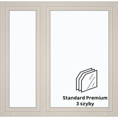 Okno PCV 3-szybowe O34 Białe 1465 x 1435 mm