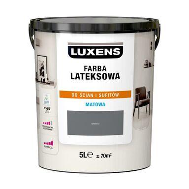 Farba wewnętrzna LATEKSOWA 5 l Granit 2 LUXENS