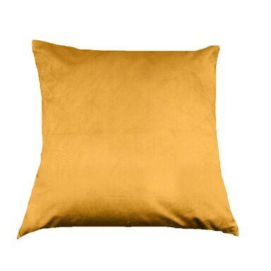 Poduszka welurowa TONY żółta 45 x 45 cm INSPIRE