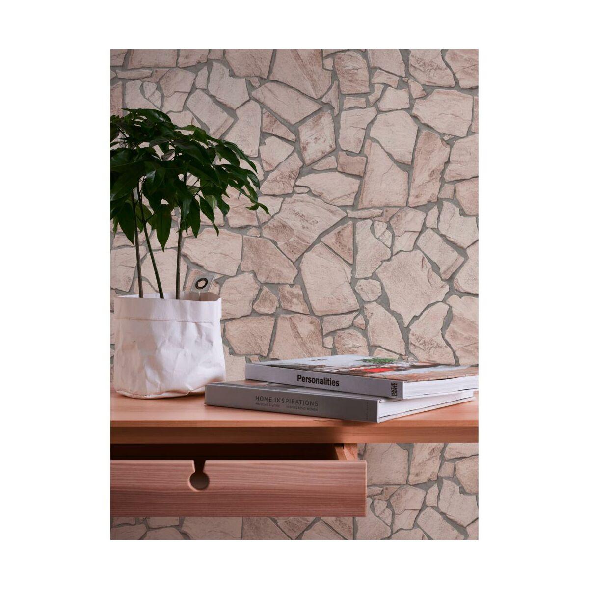 Tapeta 3d Kamienie Bezowa Imitacja Kamienia Winylowa Na Flizelinie Tapety W Atrakcyjnej Cenie W Sklepach Leroy Merlin