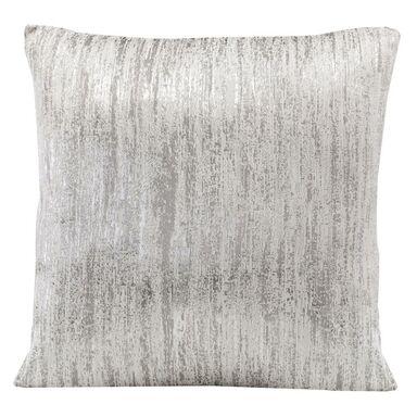 Poduszka Venice biało-srebrna 45 x 45 cm Inspire