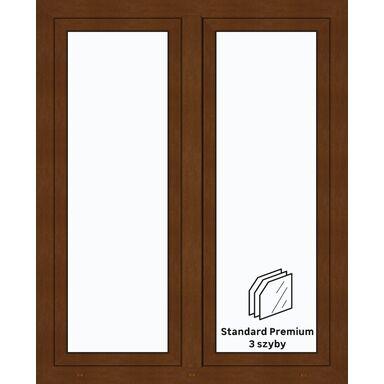 Okno PCV 3-szybowe O32 Złoty dąb 1165 x 1435 mm