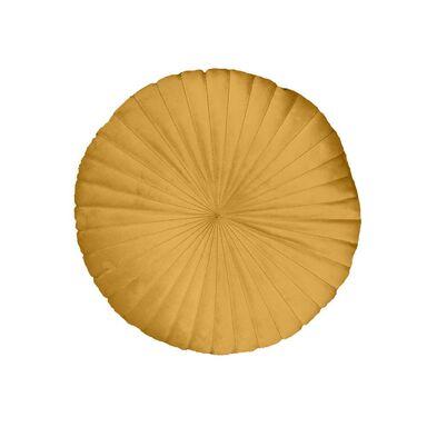 Poduszka okrągła welurowa TONY żółta śr. 40 cm INSPIRE