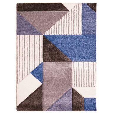 Dywan VEGAS brązowo-niebieski 120 x 160 cm