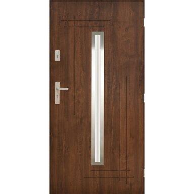 Drzwi zewnętrzne stalowe Ozyrys 2 Orzech 90 prawe Pantor