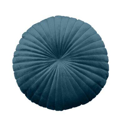 Poduszka okrągła welurowa TONY ciemnoniebieska śr. 40 cm INSPIRE