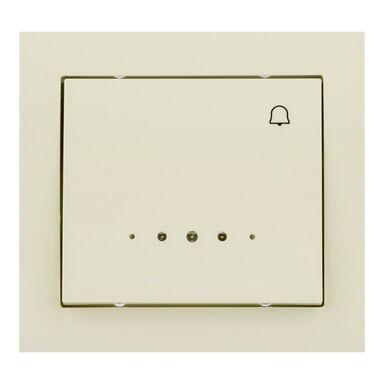 Przycisk dzwonek podświetlany KIER  kremowy  OSPEL