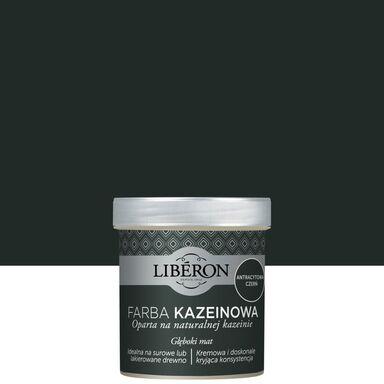 Farba do drewna KAZEINOWA Antracytowa czerń 0.5 L LIBERON