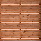 Płot ażurowy 180x180 cm drewniany GOTEBORG wiśnia WERTH-HOLZ