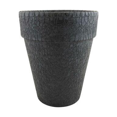 Doniczka gliniana 20.8 cm czarna T-143-784-21 CERMAX
