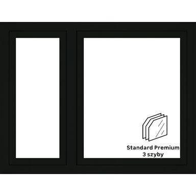 Okno PCV 3-szybowe O18 Antracyt 1465 x 1135 mm