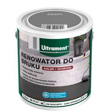 Renowator do bruku Szary 2,5 l ULTRAMENT
