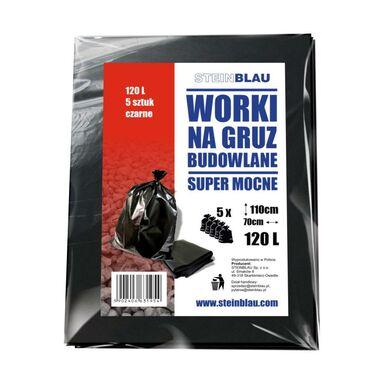 Worki budowlane na gruz SUPER MOCNE 120 l. 5 szt. STEINBLAU