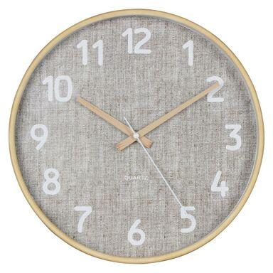 Zegar ścienny Canvas śr. 30 cm beżowy