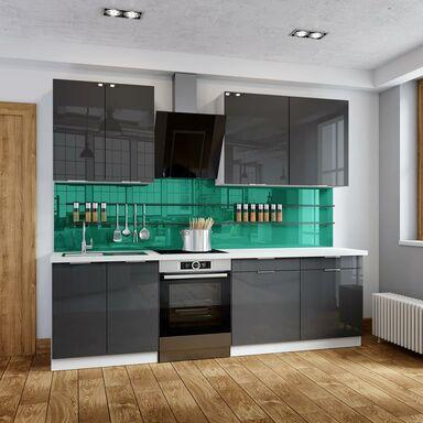 Zestaw mebli kuchennych FLINT AKRYL kolor Antracyt CLASSEN