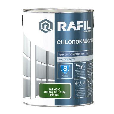 Emalia do metalu i betonu CHLOROKAUCZUK 5 l Zielony liściasty RAL 6002 RAFIL