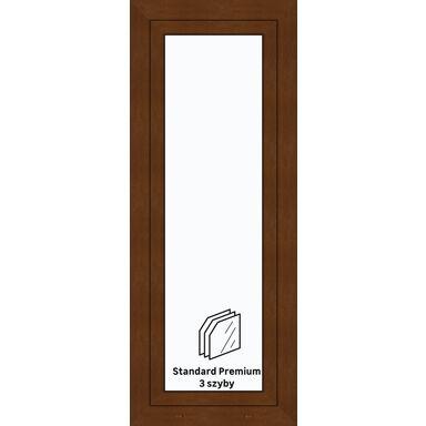 Okno PCV 3-szybowe O26 Złoty dąb 565 x 1435 mm