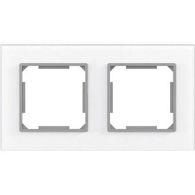 Ramka podwójna EDG1002GW białe-szkło LEXMAN